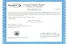 Officially Organic Certified!